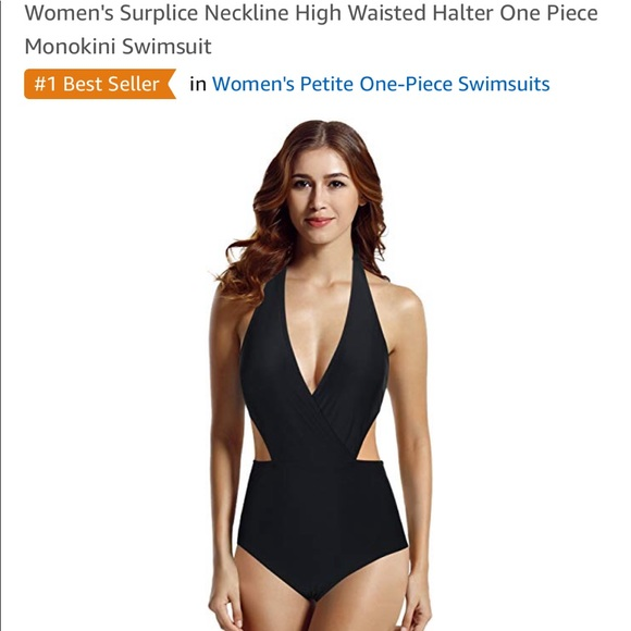 Other - Black monokini one piece